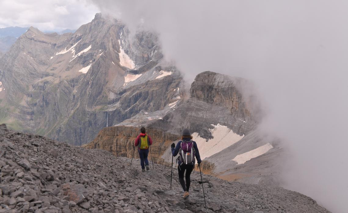 Ambiance en descendant du Taillon (3000m)