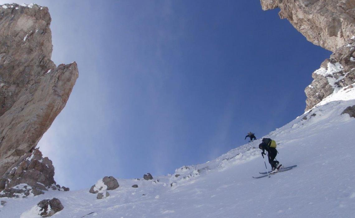 la brèche de Roland en hiver (2780 m)
